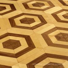 Arce con piso de baile de parquet de madera de nogal