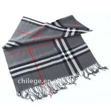 men thin checked wool scarfs fashion style
