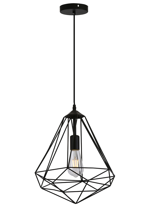 Geometric Lamp On Black
