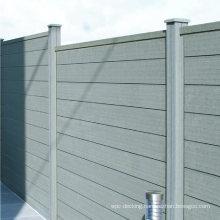 UV Stable Waterproof Fencing Landscape Composite Plastic Wood Fence Panel