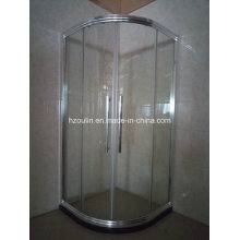 Chromed Brillante recinto de ducha con marco de aluminio grande (E-01 de aluminio grande)