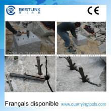 Manuelle Plug Federn Wedge und Shims zum Cracken von Granitfelsen