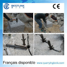 Manual Plug Feathers Wedge and Shims for Cracking Granite Rocks