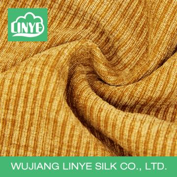 Tissu en fibre de polyester en velours côtelé pour serviettes en gros