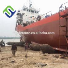 Black inflatable float airbag for ship and platform