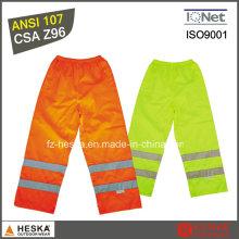 Alta visibilidade personalizada impermeável calça calças de inverno quente de calças de poliéster 100%