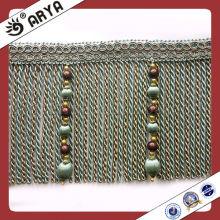 Lange Perlen und Bullion Vorhang Quaste Fransen, Blenden für Vorhang Dekoration, Vorhang Spitze Garnituren für Drapes und Sofa
