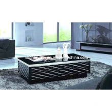 Black Board Tempered Glass Coffee Table