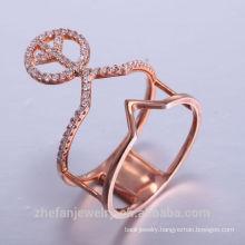 Manufacturer Stainless Steel ring 14K 18K 24K rhodium plating Beatiful High Quality 925 Silver Rings