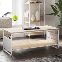 Mesa de centro con madera