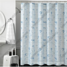 PVC Waterproof Shower Curtain with Hooks