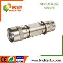 Fabriqué en usine Matériau en aluminium Haute qualité Gold Color Pocket Bright USA Cree Q3 / Q5 led Torches for Sale