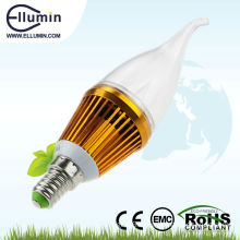 good price 3w dimmable e14 clear candle led light