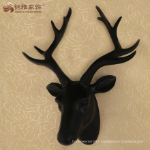 Modern decorative resin animal deer heads statue for room wall hanging decor