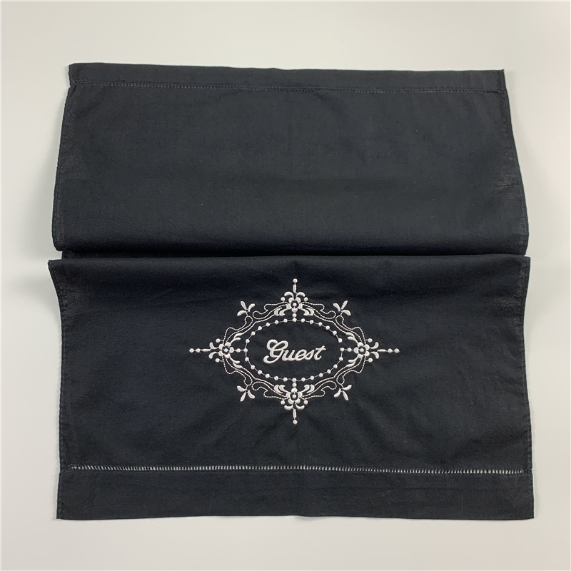 Fashion Black Towel Embroidery