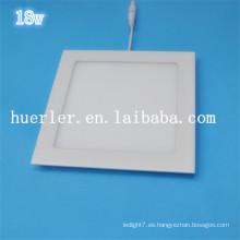 Shenzhen fabricante de uso en interiores 100-240v 220v 240v cuadrados / redonda luz de techo llevó 18w llevó el precio del panel de luz