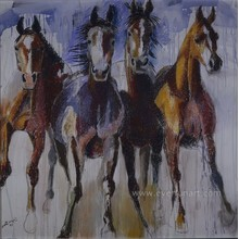 100% Hand Painted Modern Horse Art Painting