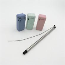 silicone straw in tin