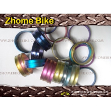 Espaçador de bicicleta peças/fone de ouvido, 5mm, 10mm, 15mm, 20mm, 25mm, 30mm, em diferentes cores