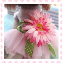 Doggy Pet Dog Kleidung Party Sommerkleid Rose Hochzeit Kleid Hund Haustier Kleidung