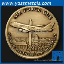 personalize moeda de metal, moeda de desafio da Força Aérea 1