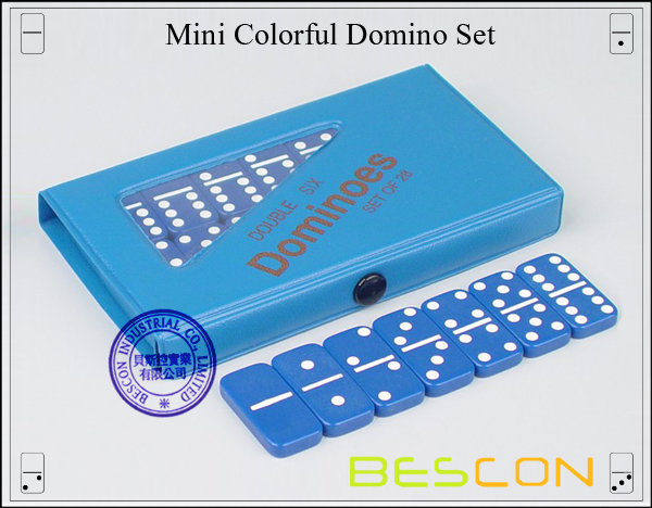 Mini Colorful Domino Set