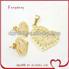 Fashion stainless steel heart jewelry set for women supplier