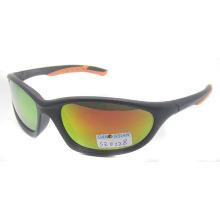 Gafas de sol deportivas de plástico con lente de revestimiento