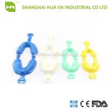 CE-zertifiziertes medizinisches Einweg-Blau Gelb grünes Fluorid-Schaum-Abformlöffel für den zahnärztlichen Gebrauch