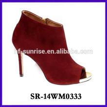 2014 hot selling winter high heel shoe woman boot