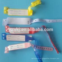 Uso hospitalar ID descartáveis miúdos pulseiras para atacado