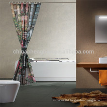 China Printed Shower Curtain with Light Shower Curtain Rod