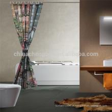 China Cortina de chuveiro impressa com luz cortina de chuveiro Rod