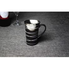 Nueva taza de cerámica negra de la calcomanía de la llegada 2016 con la caja individual