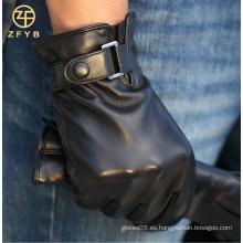 2016 guantes de cuero de encargo del nuevo estilo de la manera para los hombres