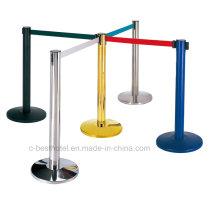 Rail de barrière de l'hôtel-Metal-Crowd-Control Stand