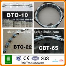 Fios de segurança de arame farpado BTO22 BTO28
