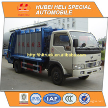 DONGFENG 4x2 small 5cbm trash collecting truck 95hp with pressing mechanism hot sale for export