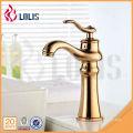 Design de luxe mélangeur de salle de bains en laiton robinet de robinet à eau chaude et froide commerciale
