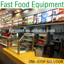 Hot Sale Burger Restaurant Fast Food Equipment (One-Stop Solution)