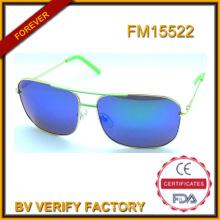 Новые металлические солнцезащитные очки с синими поляризованные линзы, высокое качество FM15522