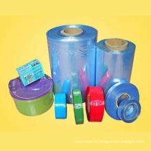 Прозрачный пищевой поливинилхлорид термоусадочная трубка пленка для Плодоовощей и статьи Оборачивая с FDA утвержденных (XFF03)
