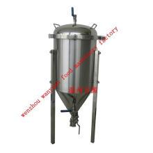 Depósito de fermentación con revestimiento de glicol