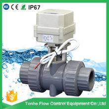 2 voies NSF Ce Plastique en PVC UPVC Electric Water Motorized Actuator Motor Ball Valve