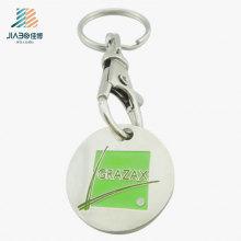 Símbolo feito sob encomenda de venda quente do trole da carcaça da liga do logotipo do esmalte macio com Keychain