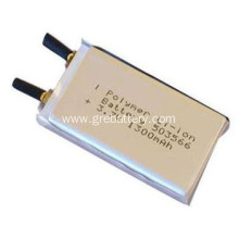 Lithium polymer battery 3.7V 1300mAh, 503566 lipo battery