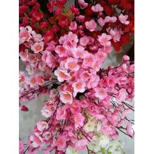 The Peach Blossom Decoration Nice Comfortable Silk Flower