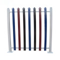 Colorful steel palisade fence