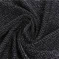 Tissu à tricoter Jacquard en fil de nylon noir pratique