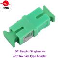Sc Simplex Singlemode APC Fiber Optic Adapter Without Ear